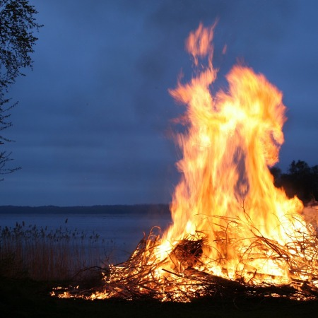 Fire, bonfire, burn, explosion,